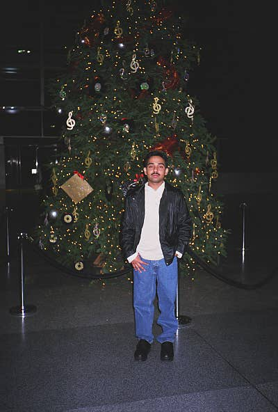 In front of a X'mas Tree